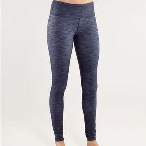 Lululemon blue denim legging- size 2